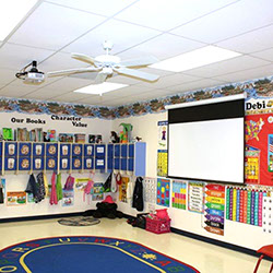 Classroom Screen and Projector Installation